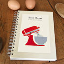 Thumb personalised mixer cook s notebook