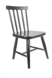 Wooden Child's Chair In Black - chairs & stools