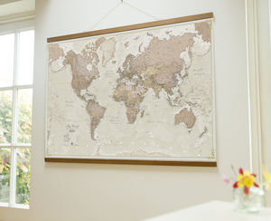 Antique Map Of The World Wall Hanging - home accessories