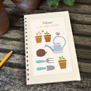 Large Personalised Gardening Notebook