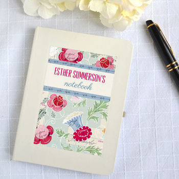 Personalised Floral Notebook