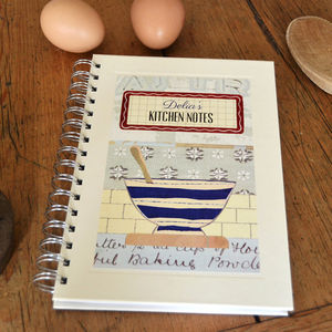 Personalised Cook's Notebook - gifts for bakers