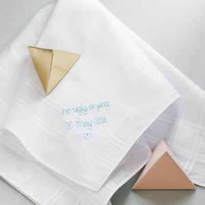 No Ugly Crying Handkerchief - wedding favours