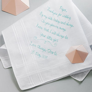Father Of The Bride Handkerchief - wedding favours