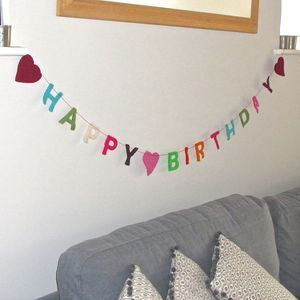 Large 'Happy Birthday' Decorative Garland