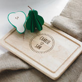 Personalised Couple's Engraved Chopping Board - anniversary gifts