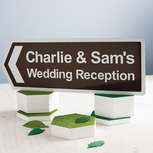 Personalised Wedding Reception Sign - outdoor decorations