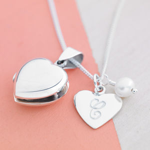 Heart Locket With Birthstones - 21st birthday gifts