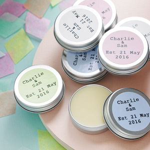 Personalised Lip Balm Favour - wedding favours