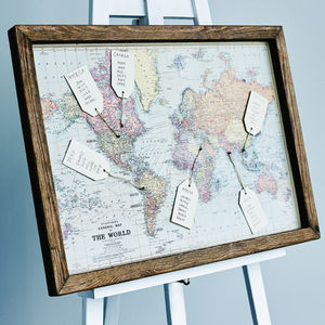 Map Wedding Table Plan - wedding stationery