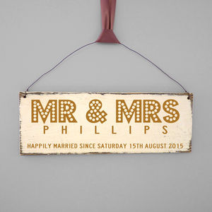 Personalised Couples Showtime Wedding Sign - wedding gifts