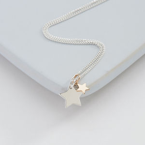 Two Stars Necklace - necklaces & pendants