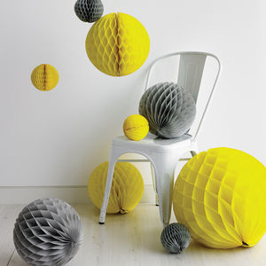 Tissue Paper Honeycomb Ball Decoration - home accessories