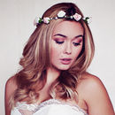 Pale Pink Rose and Pearl Headband