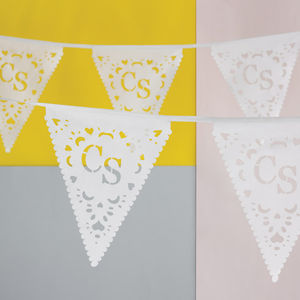 Personalised Monogram Wedding Bunting