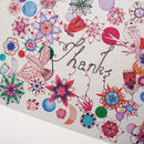 Flowers And Birds Thank You Card