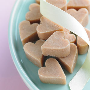 Scottish Tablet Heart Wedding Favour - edible favours
