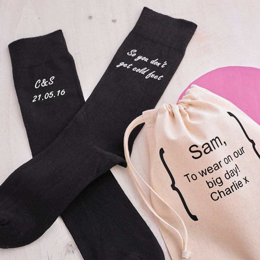 Personalised Cold Feet Wedding Socks
