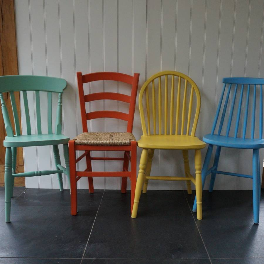 Mismatched Chairs Hand Painted In Any Colours By Rectory