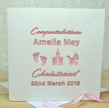 Personalised Laser Cut Christened/Baptism Card