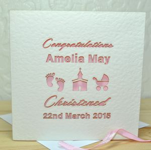 Personalised Laser Cut Christened/Baptism Card - shop by category