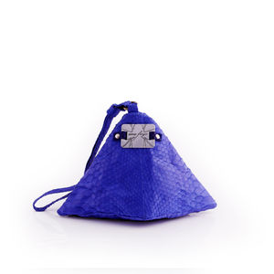 Pyramid Evening Bag Snake Skin