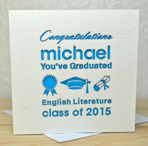 Personalised Laser Cut You've Graduated Card - graduation cards