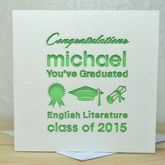 Personalised Laser Cut You've Graduated Card - cards