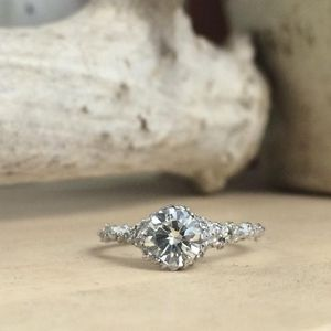 Cavern Diamond Engagement Ring