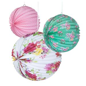 Floral Paper Party Lanterns - party lights & lanterns