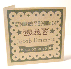 Personalised Christening/Naming Day Card - christening cards