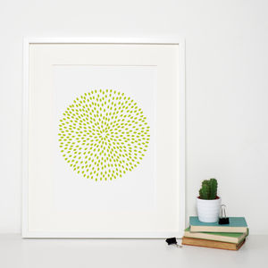 Reduced Green Modern Art Print