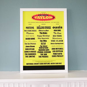 Personalised Music Festival Poster
