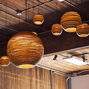 Recycled Cardboard Scrap Lights - lighting