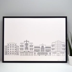 Deco Buildings Print
