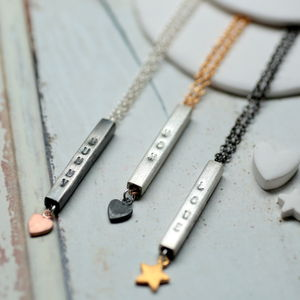 Personalised Love Bar Necklace - contemporary jewellery
