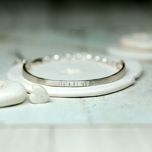 Personalised Silver Chain Bangle - bracelets & bangles