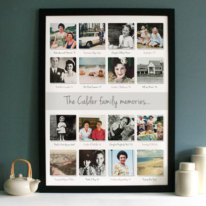 Personalised Past Memories Photo Collage - living room
