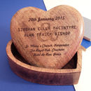 Personalised Wedding Keepsake Wood Heart Box