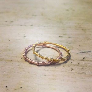 Skinny Encrusted Stacking Ring - rings