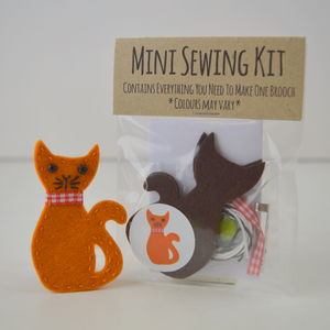Mini Cat Brooch Sewing Kit
