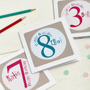 Personalised Numbered Birthday Card