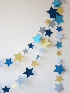 Handmade Shooting Star Garland - baby's room