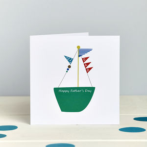 Sail Boat: Father Card - father's day cards