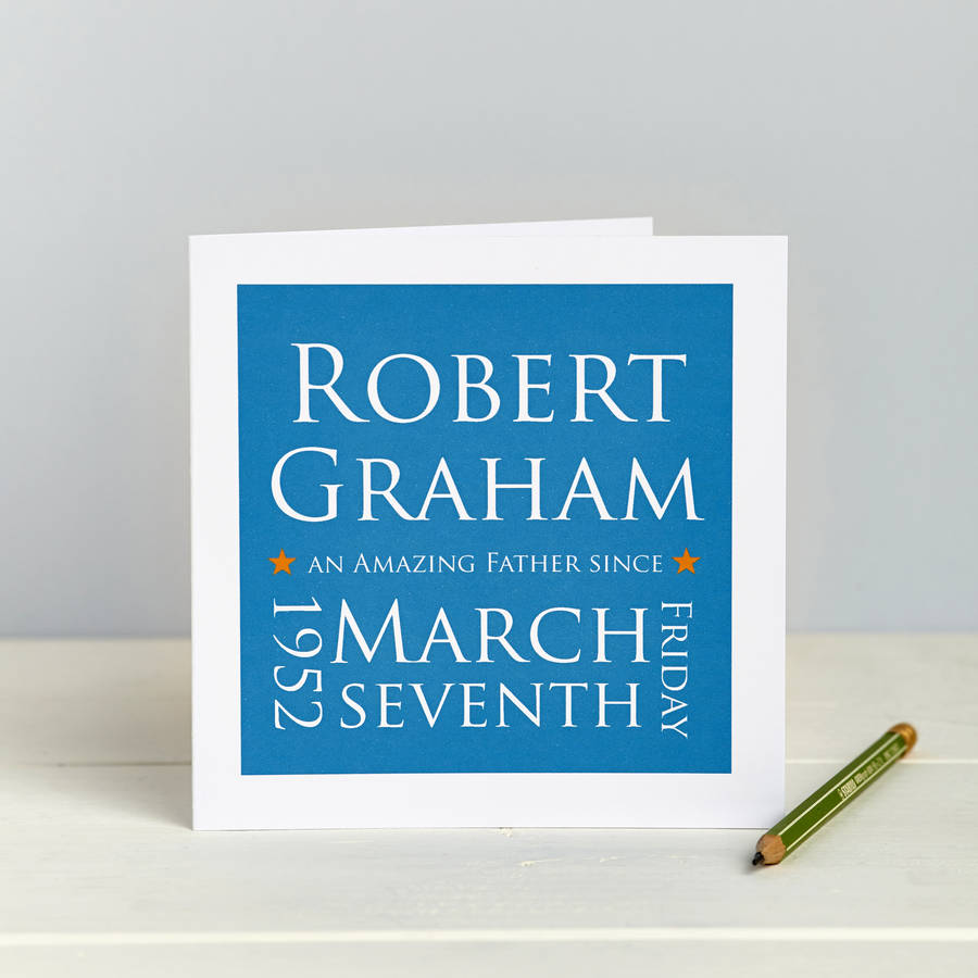 Amazing Father Since: Personalised Card