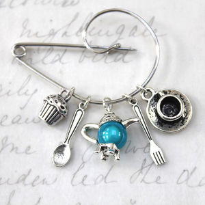 Posh Afternoon Tea Brooch - pins & brooches
