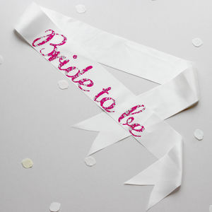 Bride To Be And Hen Party Sashes With Liberty Print - hen party gifts & styling