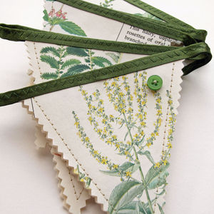 Wild Flower Book Bunting - room decorations
