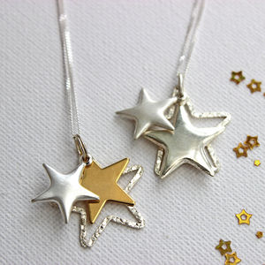 Orsino Silver And Gold Star Necklace - celestial jewellery
