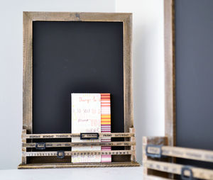 Wooden Calendar Chalk Board - art & pictures